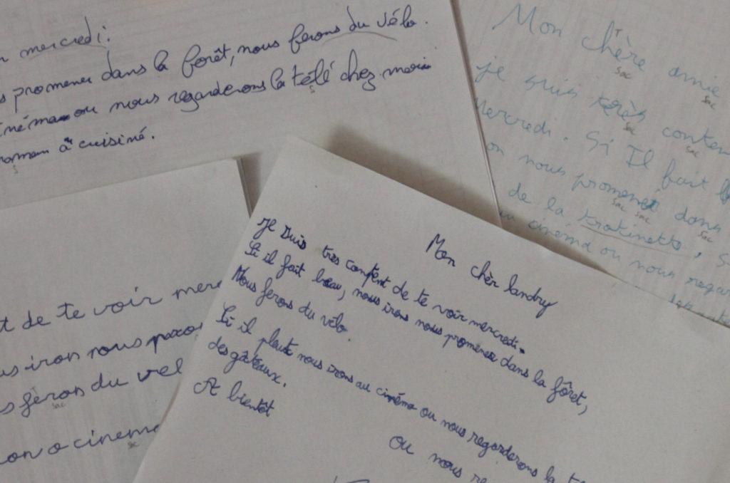 ecriture manuscrite d'enfant